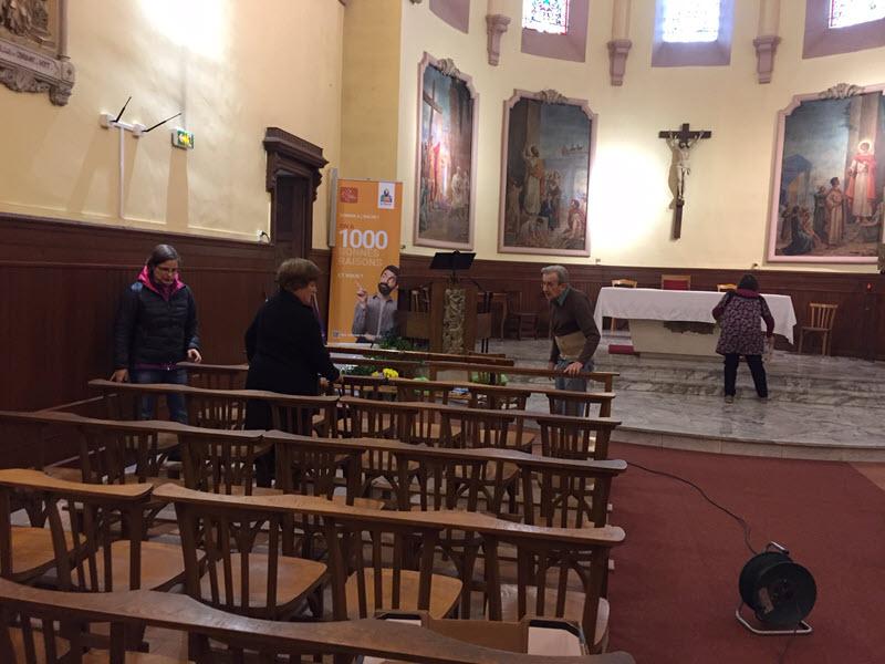 Les paroissiens d'Aucamville préparent le Jeudi Saint