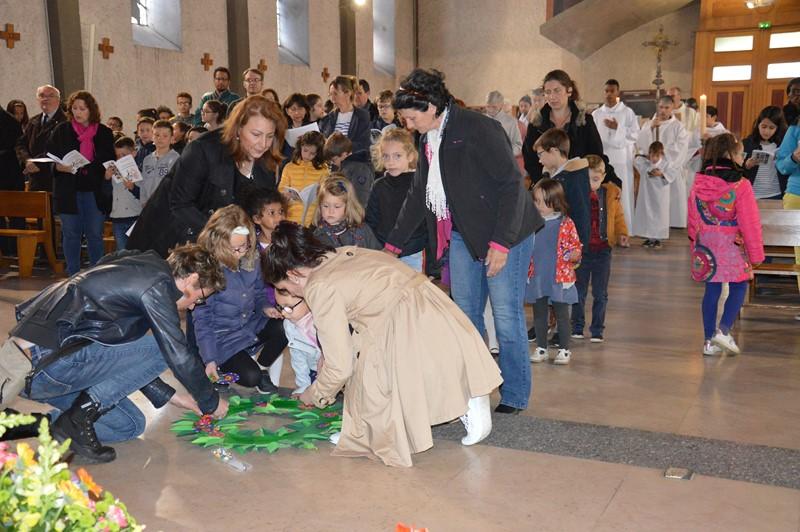 Messe des familles : la messe des cœurs.